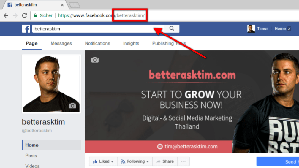 Optimize Facebook Vanity URL